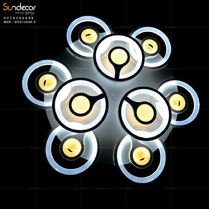 Đèn Mâm Ốp Trần Mắt Công GP016DM
