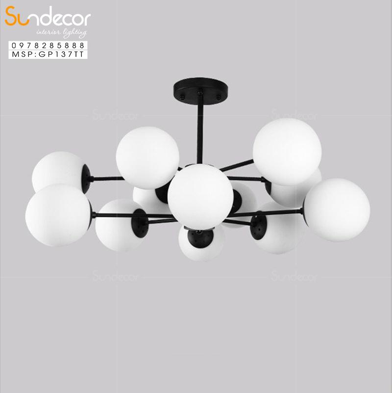 Lựa chọn đèn chùm như thế nào là phù hợp với phòng khách chung cư có trần thấp